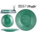 Teller Kristall 21cm grün türkis