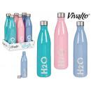bouteille 1l design h2o couleur, 3 fois assorti