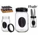 Besteckschublade aus Glas mit Metalldeckelmesser