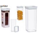 1,5l quadratisches luftdichtes Plastikglas