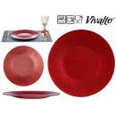 assiette Verre rouge 27cm