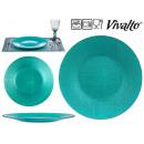 assiette Verre turquoise 27cm
