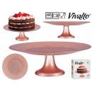Lunch box in vetro da 33 cm con base rosa pastello