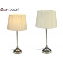 beige steel table lamp