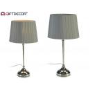 gray steel table lamp