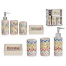 ceramic bathroom set 4 pcs colors, 2 times