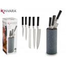 groothandel Huishouden & Keuken: Tacoma met 5 messen zwart handvat