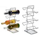 stainless steel bottle rack 6 holes zig zag