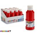 paint bottle tempera 120 ml red