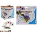 wholesale Gifts & Stationery: set of 10 paintbrushes and palette paints