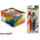 wholesale School Supplies: set of 7 paint brushes assorted paint sizes