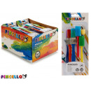 set of 6 paint brushes and sponges
