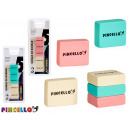 set of 5 assorted erasers sizes
