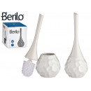 wholesale Bath Furniture & Accessories: Ceramic toilet brush modern white shape