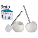 wholesale Bath Furniture & Accessories: ceramic toilet brush tilted white