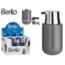 ceramic soap dispenser wide gray