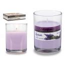 Großhandel Raumsprays & Duftöle: Lavendelduft runde Glaskerze