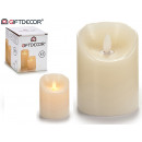 wholesale Candles & Candleholder: candle flame led cream 10cm