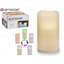 LED Kerze ändert die Farbe 12.50cm