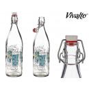 Bottiglia di vetro detox da 1 litro