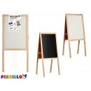 hurtownia Upominki & Artykuly papiernicze: Podwójna drewniana sztaluga łupkowa 55x120cm
