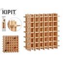 hurtownia Upominki & Artykuly papiernicze: drewniany stojak na butelki 36 otworów 75x75cm