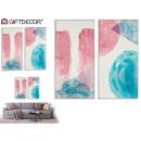 rosa und blaue abstrakte Design-Leinwand sortiert