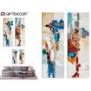 orange und blaue abstrakte Design-Leinwand sortier