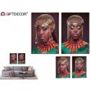 tela donna africana dorata, 2 volte assortito