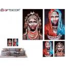Großhandel Dekoration: afrikanische frau leinwand schwarzer hintergrund