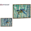 mayorista Decoración: lienzo lino tortuga surtido 2