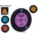 Großhandel Uhren & Wecker: Disco Glasuhr, 4 Farben fach sortiert