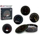 set of 4 speedometer coasters, colors 4 vec