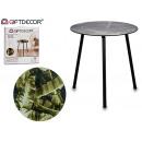 table à pieds en métal noir jungle