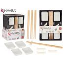 weißes Sushi-Set 12-teilig