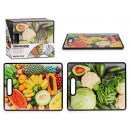 cutting board 38x30cm, 2 times assorted foods
