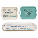 bamboo tray 42x27cm, 2 times assorted bakery