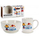 conjunto de desayuno 2 piezas infantil circus