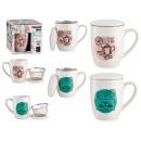 tazza di porcellana city tea c filtro e coperchio