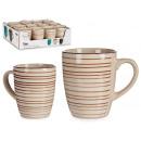 rimmed stoneware breakfast mug
