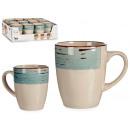wholesale Household & Kitchen: breakfast mug stoneware border 3d blue