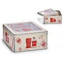 tin box medicine cabinet with window