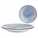 piatti strisce blu semplici di 24 cm