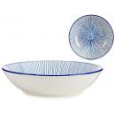 assiette rayures bleues profondes 20cm