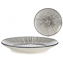 wholesale Crockery: plate 20cm black striped dessert