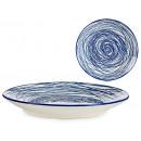 piatti Dessert a strisce blu da 20 cm