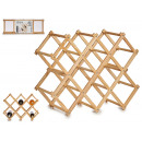10 holes folding wooden bottle rack