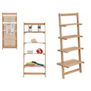 wooden ladder with 4 shelves
