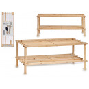 wooden shoe rack with 2 floors