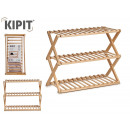wholesale Small Furniture: 3-tier wooden folding shoe rack